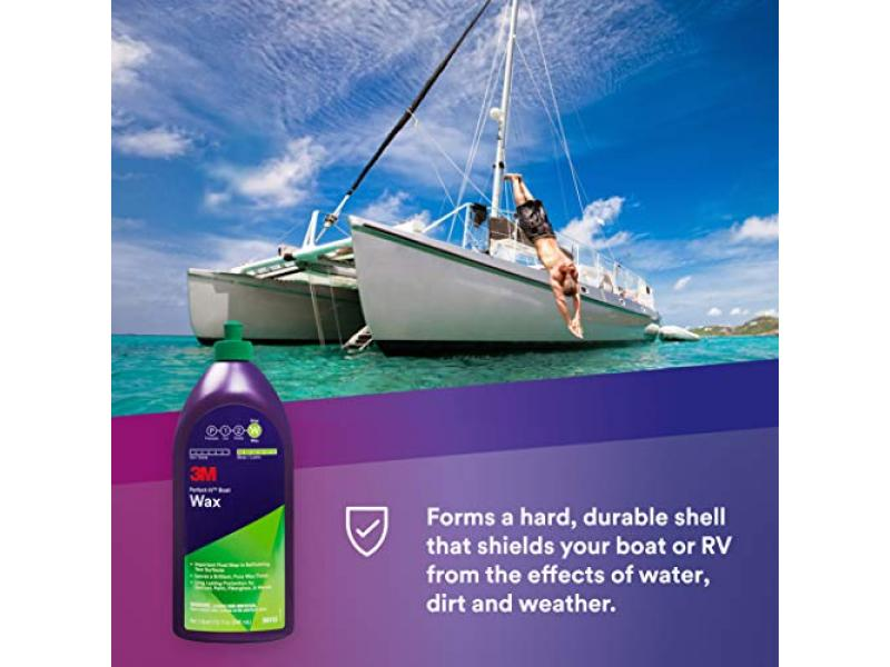 3M Perfect-It Boat Wax (36113) - For Boats and RVs - 1 Quart
