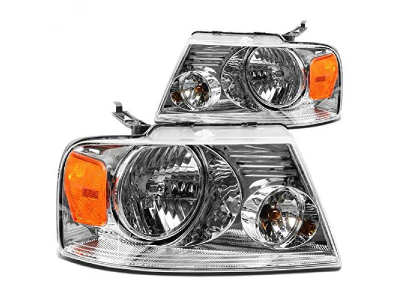 DNA Motoring HL-OH-F1504-CH-AM Headlight Assembly