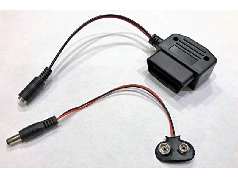 OBD ll Connector Vehicle Memory Saver Reliable and Easy 9 Volt Battery Powered
