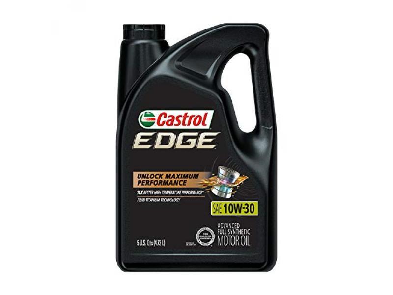 Castrol 03081 Edge 10W-30 Advanced Full Synthetic Motor Oil
