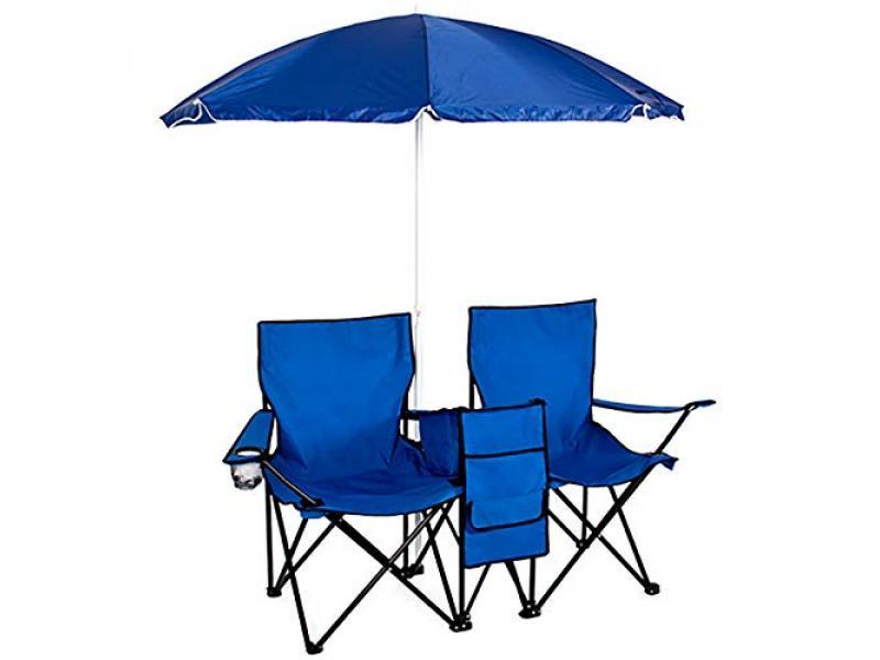 Double Folding Chair w Umbrella Table