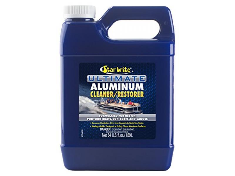 Star Brite Ultimate Aluminum Cleaner & Restorer - Safely Clean Pontoon Boats, Jon Boats & Canoes