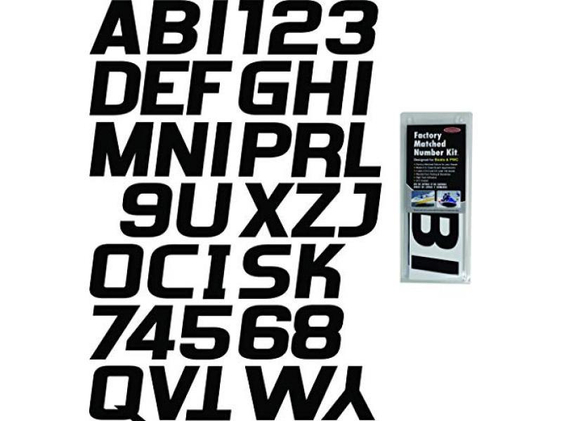 Solid Black Factory Matched Registration Number Kit