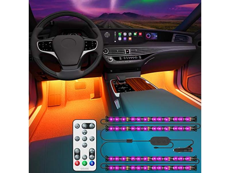 Interior Car LED Lights with Remote and Control Box