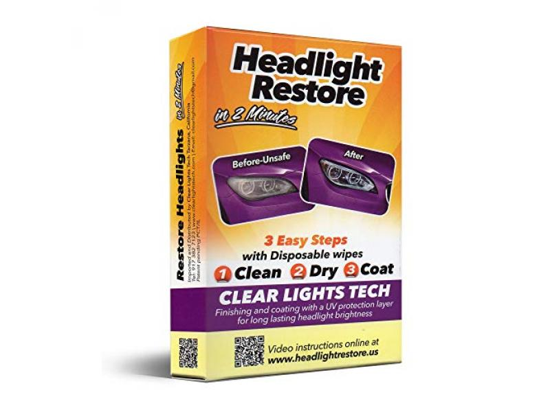 Headlight Lens Cleaning Wipes