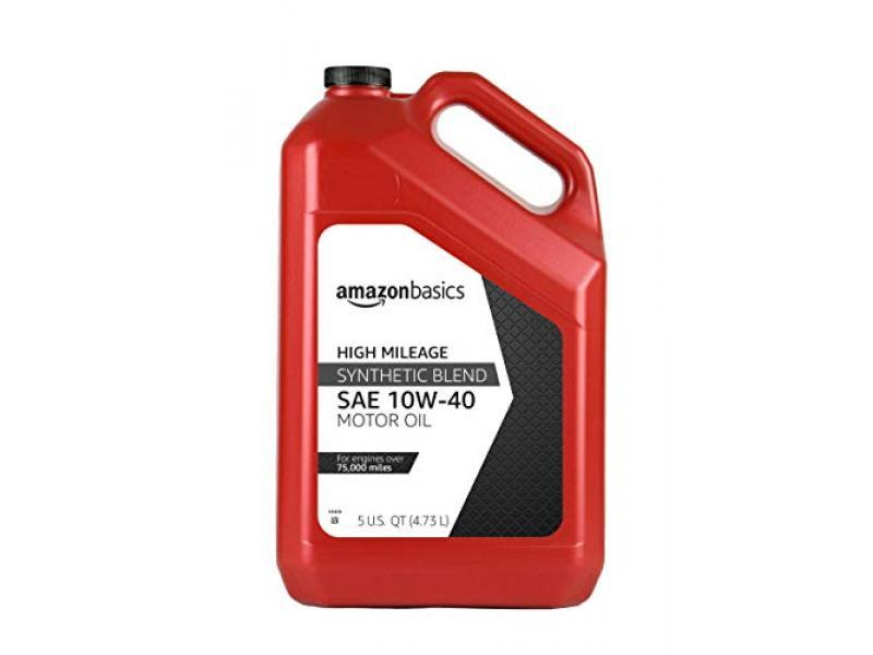 High Mileage Motor Oil - Synthetic Blend - 10W-40 - 5 Quart