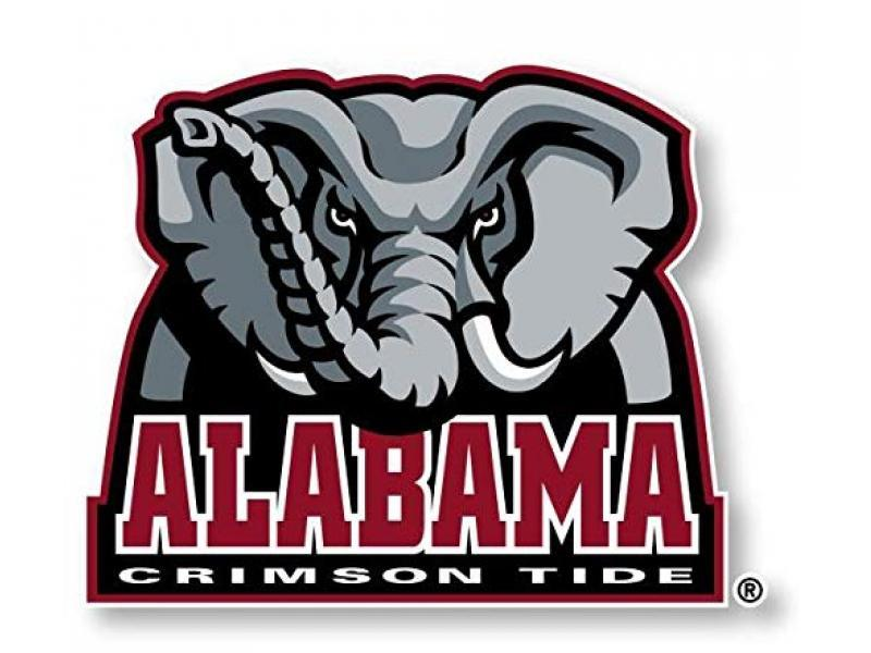 R and R Imports Alabama Crimson Tide Sports Team Large Mascot Vinyl Decal Sticker