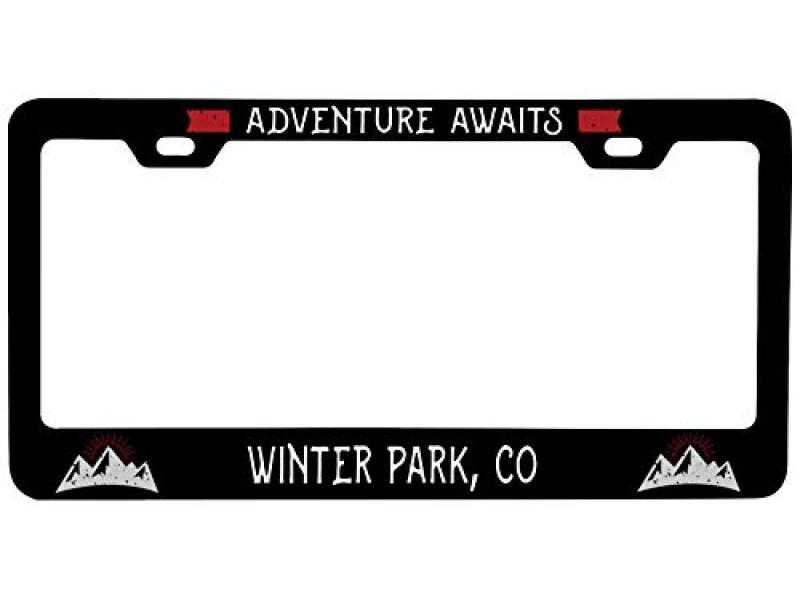 Winter Park Colorado Vanity Metal License Plate Frame
