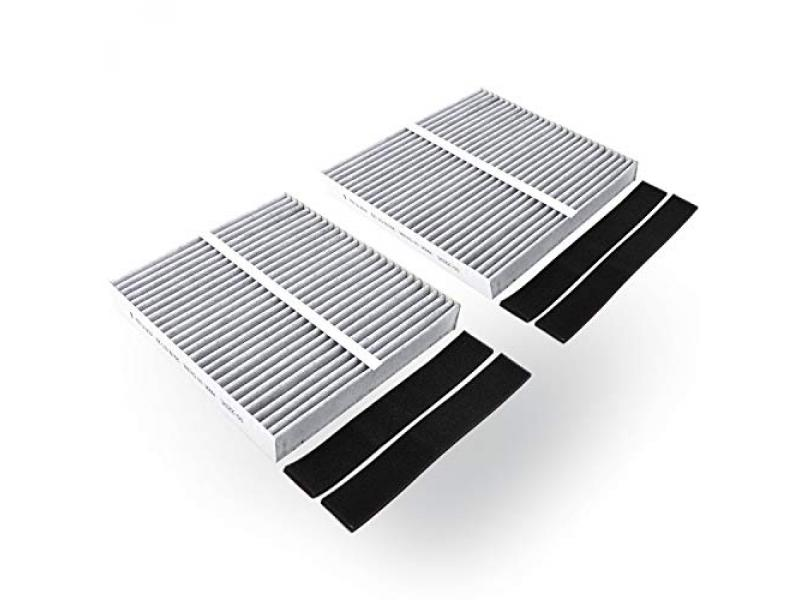 Cabin air filter (2-pack, gray) 8.58 by 7.87 by 1.18 inches