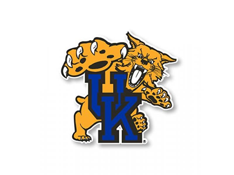 R and R Imports Kentucky Wildcats Large Mascot Vinyl Decal Sticker 2-Pack
