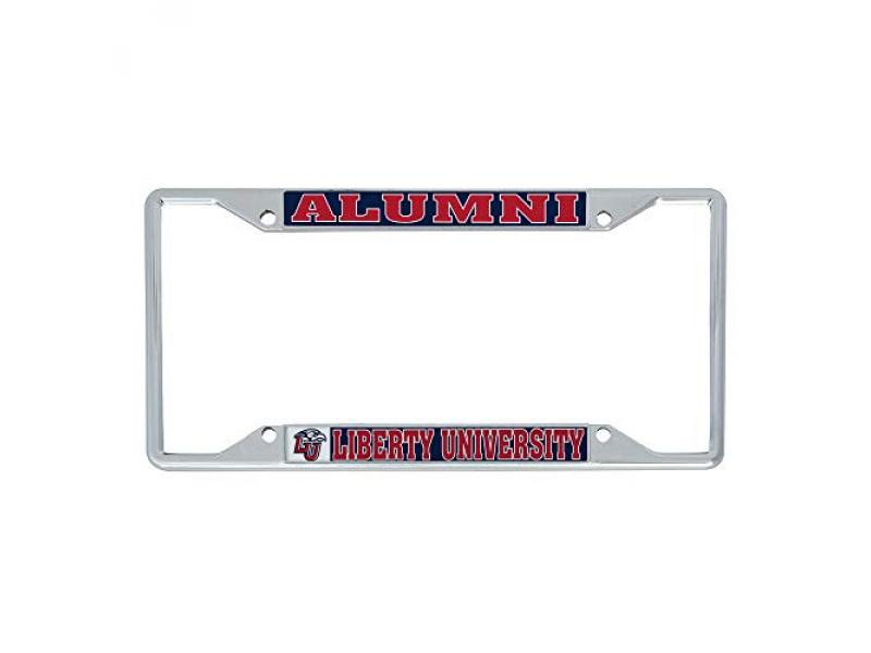 Desert Cactus Liberty University Flames Metal License Plate Frame