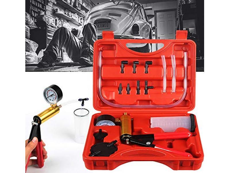and Held Vacuum Pump Tester Set Vacuum Gauge and Brake Bleeder Kit