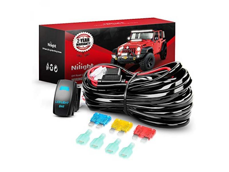 10015W - NI-WA 09 LED Light Bar Wiring Harness Kit