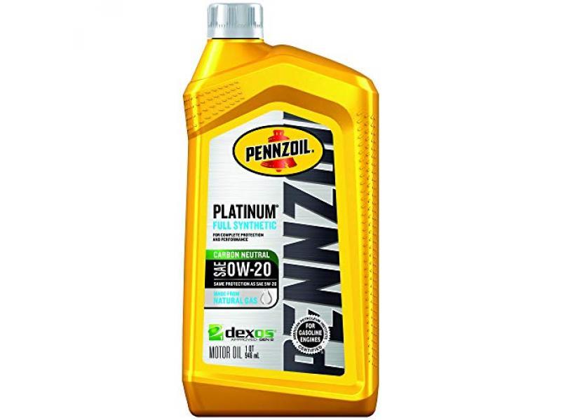 Pennzoil - 550036541 Platinum Full Synthetic Motor Oil (SAE, SN) 0W-20