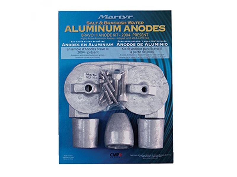 Martyr CMBRAVO3KITA Aluminum Anode Kit for Mercury Bravo III