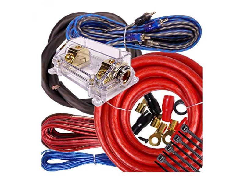 Complete 5000W Gravity 0 Gauge Amplifier Installation Wiring Kit