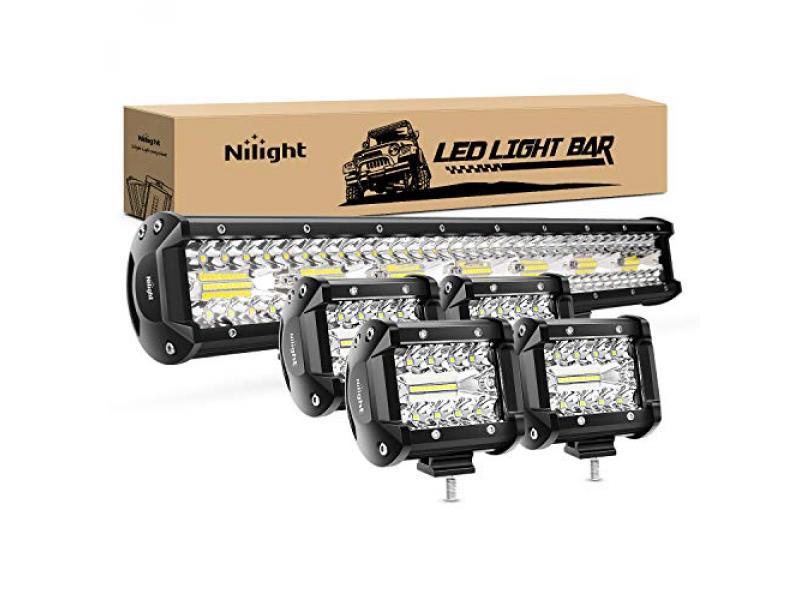 Nilight 20 Inch 420W Triple Row Flood Spot Combo Led Light Bar