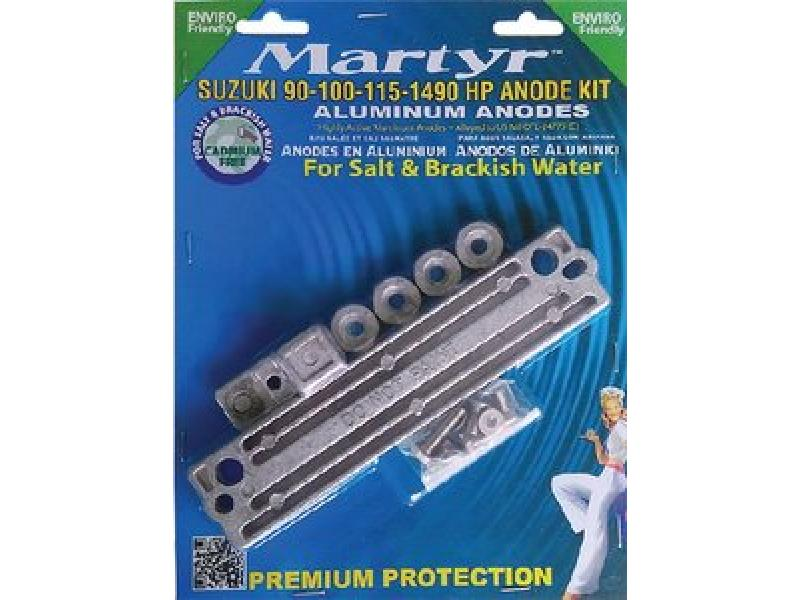 MARTYR ANODES Martyr Suzuki 90 100 115 140 HP Outboard Anode Kit Aluminum CMSZ90140KITA