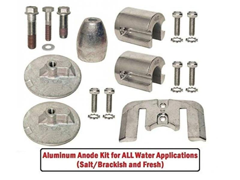 GLM Aluminum Anode Kit for Mercruiser Bravo 3 III Stern Drives 2004 & Up Replaces OEM 888761Q02 888761Q04