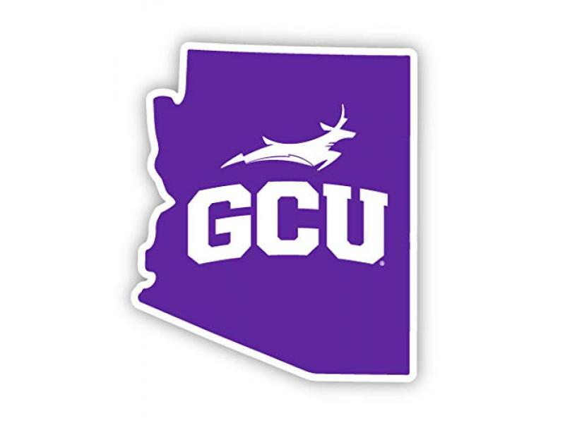 R and R Imports Grand Canyon University Lopes 4 Inch State Shape Vinyl Decal Sticker