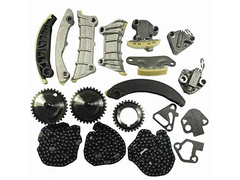 Engine Timing Chain Kit w/Chain Guide Tensioner Sprocket