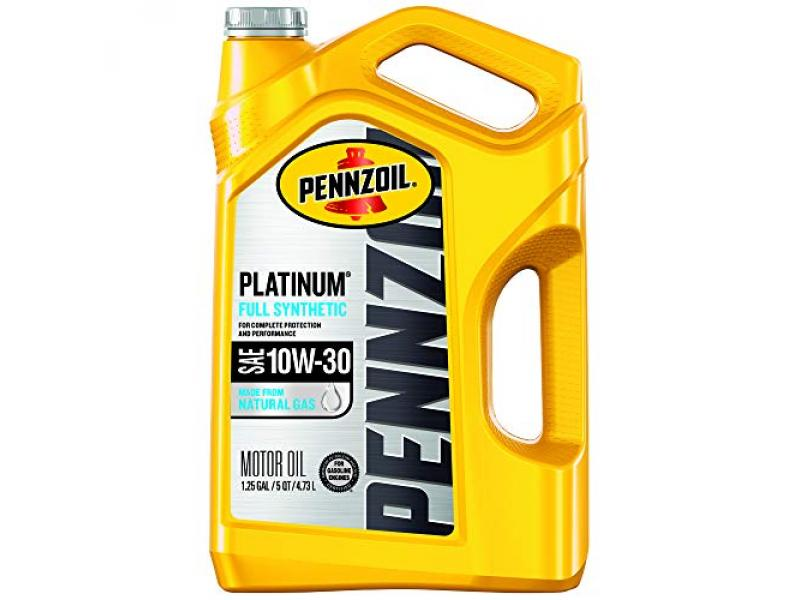Pennzoil - 550046205 Platinum Full Synthetic Motor Oil 10W-30, 5 Quart - Pack of 1