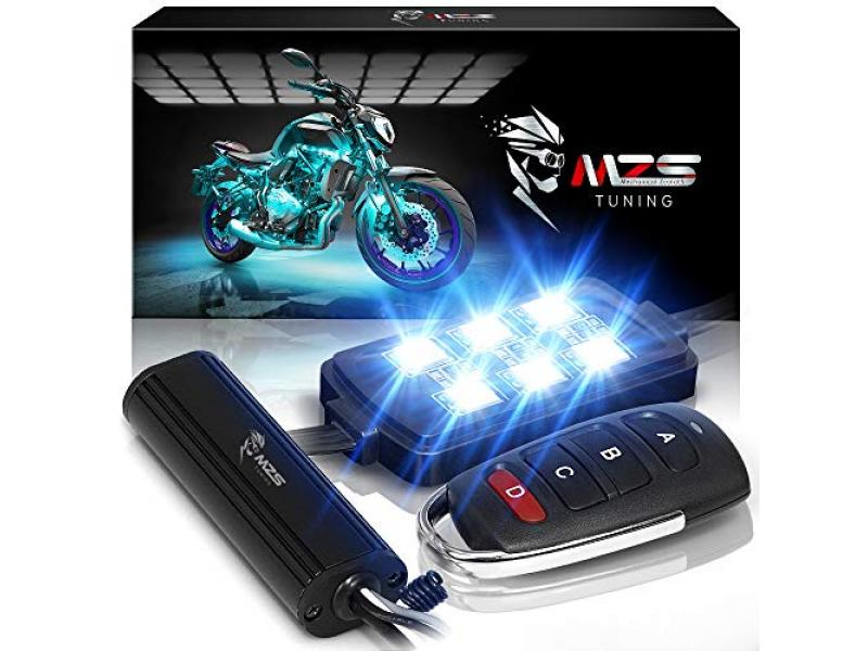 MZS Motorcycle LED Light Kit Multi-Color Neon RGB Strips