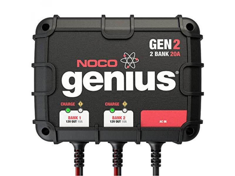 NOCO Genius GEN2, 2-Bank, 20-Amp (10-Amp Per Bank)