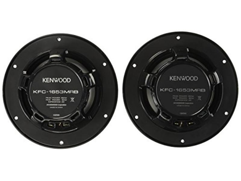 Kenwood 6.5 Black Marine 2 Way Speakers 150 Watts