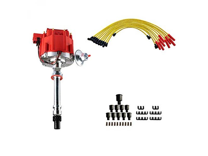 MAS Ignition Distributor w/Cap & Rotor and Spark Plug Wires Ignition Combo Kit