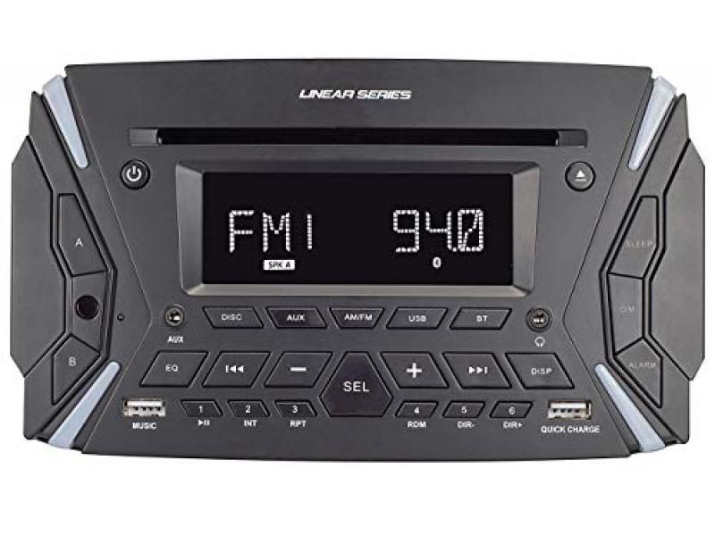 Magnadyne RV6100 AM/FM & BT/DVD Rugged Style Wall Mount Single Din Multimedia Receiver