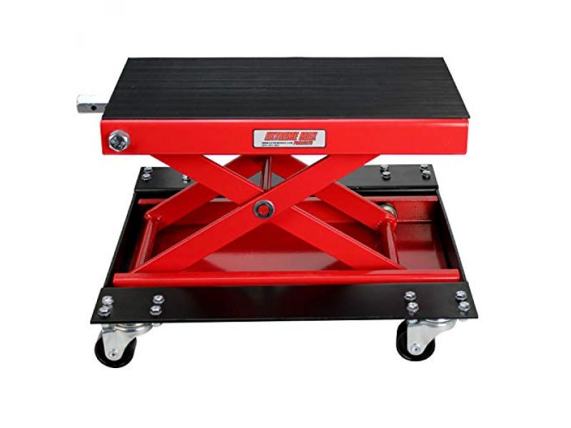 Extreme Max 5001.5059 Wide Motorcycle Scissor Jack with Dolly
