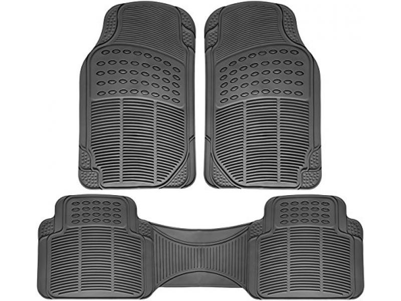 OxGord Ridged All-Weather Rubber Floor-Mats - Waterproof Protector
