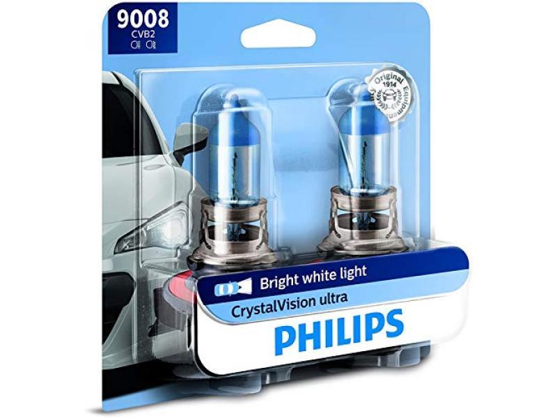 H13 CrystalVision Ultra Upgraded Bright White Headlight Bulb