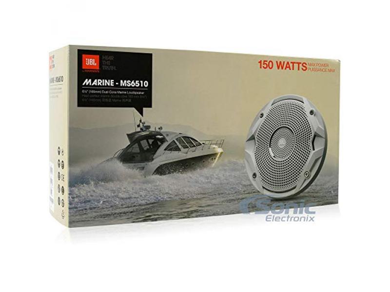 JBL MS6510 6-1/2 300 Watts Max Power MS Series Dual Cone Water-Resistant Marine Car Boat ATV Speakers