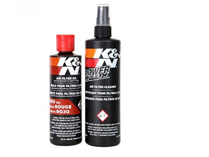 K&N Air Filter Cleaning Kit: Squeeze Bottle Filter Cleaner and Red Oil Kit