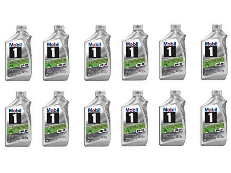 Mobil 1 121218 0W-30 ESP Motor Oil - 1 Quart (12 Pack)