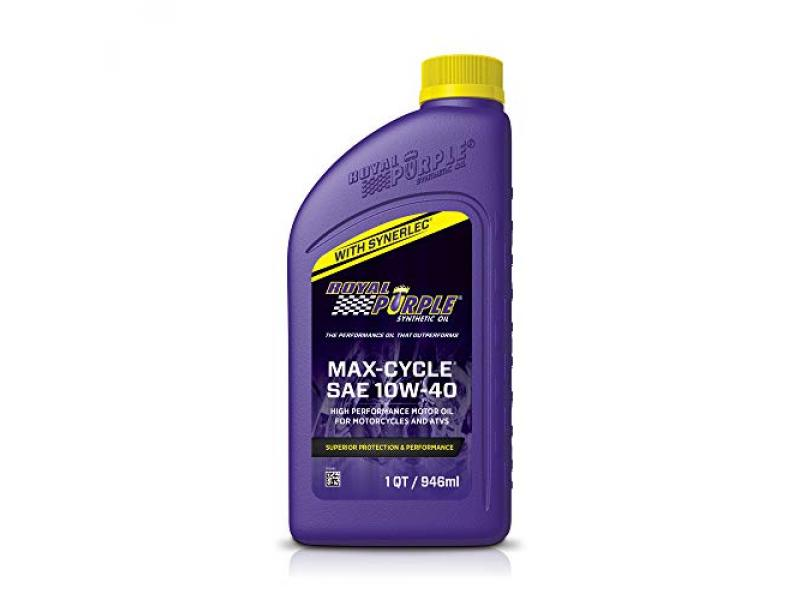 Royal Purple 01315 Max Cycle 10W-40 High Performance Synthetic Motorcycle Oil