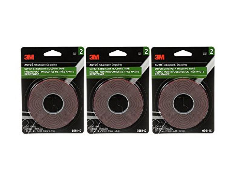 3M 03614 Scotch-Mount 1/2 x 15 Molding Tape (3 Pack)