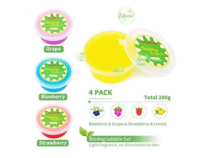 Cleaning Gel 4-Pack Detailing Essential Putty