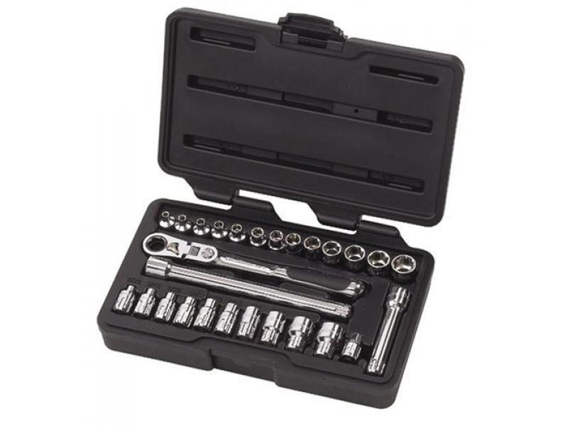 GEARWRENCH 27 Pc. 1/4 Drive 6 Pt. Pass-Thru Mechanics Tool Set