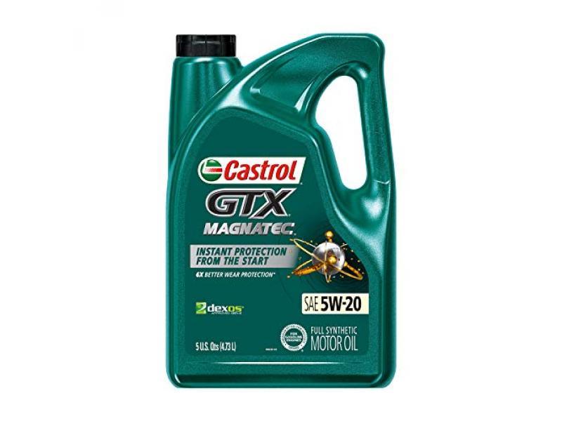 Castrol 03063 GTX MAGNATEC 5W-20 Full Synthetic Motor Oil