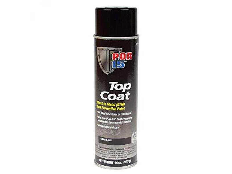POR-15 45818 Top Coat Gloss Black Spray Paint