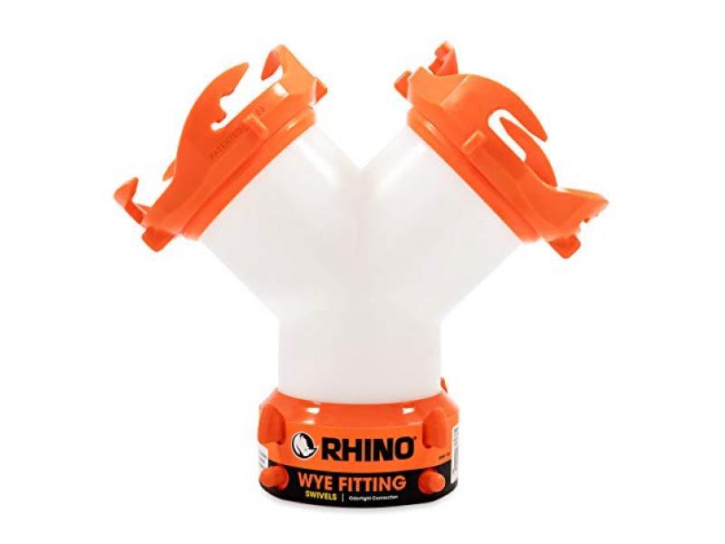 Camco RhinoFLEX RV Wye Fitting with 360 Degree Swivel Ends