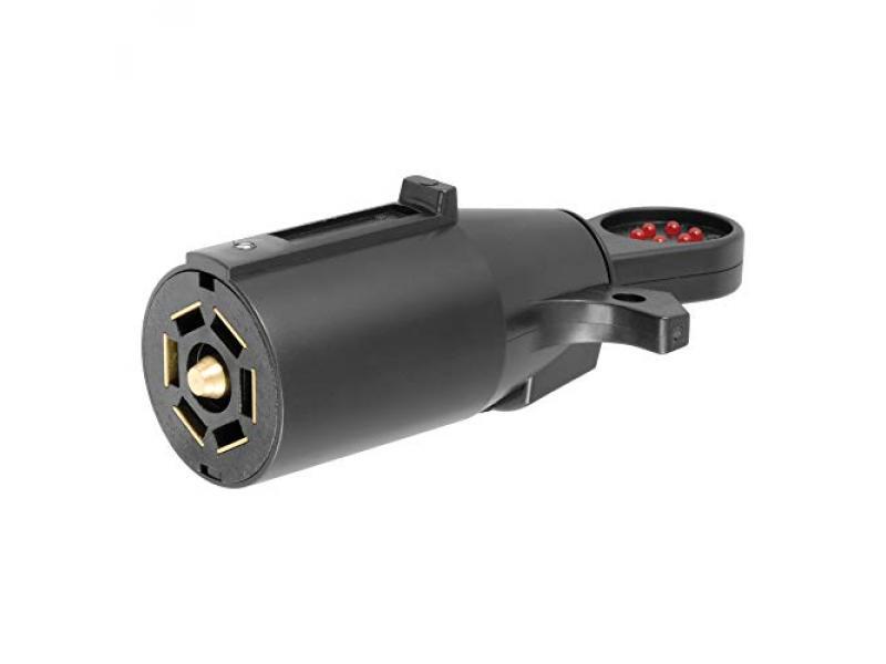 CURT 58271 7-Pin RV Blade Trailer Wiring Towing Vehicle Socket Tester