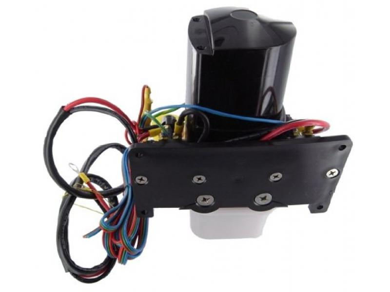 New Complete Side Mount Tilt Trim Motor Fits Mercruiser, Includes Pump and Reservoir, Plus Solenoids, Wiring For Mounting On The Side Hull 14336A20, 14336A8