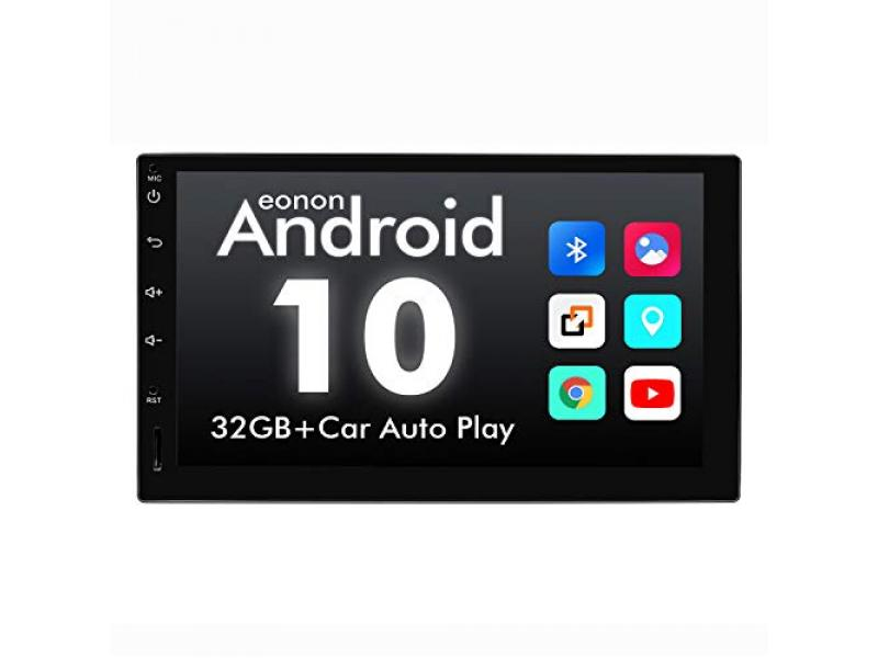 2021 Double Din Car Stereo, Android Head Unit Built-in DSP with IPS Screen