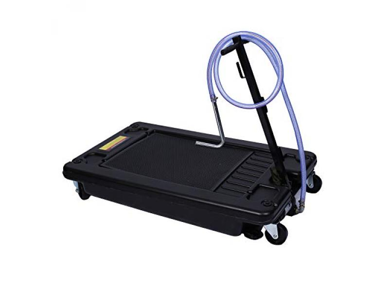 HomVent Portable Oil Drain Pan with Electric Pump