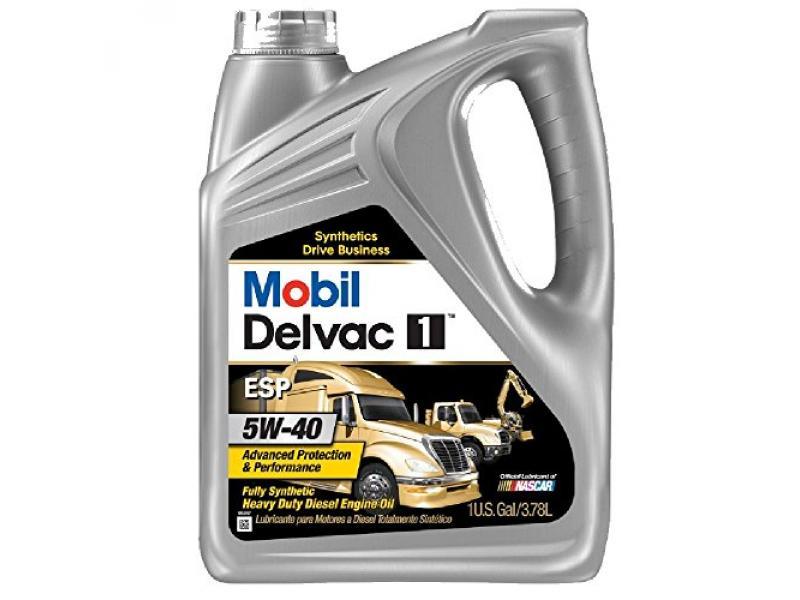 Mobil (112825-4PK) Delvac 1 ESP 5W-40 Motor Oil - 1 Gallon