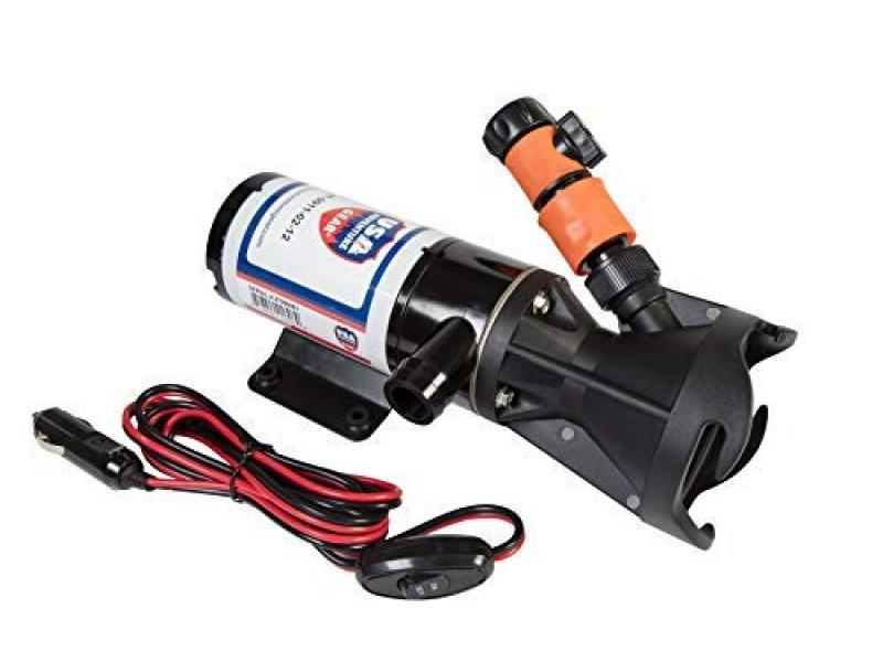 USA Adventure Gear Progear 2000 Quick Release RV |Sewer Waste Macerator Pump | Fits All Black Tanks | 4 Blade 316 Stainless Steel Cutter | Up to 12 GPM